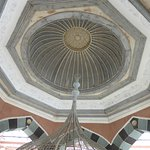 The dome in the washing gazebo in the courtyard of the Tombul Mosque