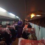 Traditional Myanmar Dance on Bus