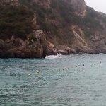 Wavy sea and fantastic rocks