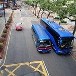 outside hotel, AEL shuttle bus K3