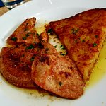 generous and perfectly cooked veal liver
