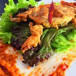 oft shell Crab with the Famous Singapore Chilli Crab Sauce