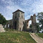 zamek - widok na dziedziniec