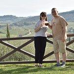enjoying the terrace