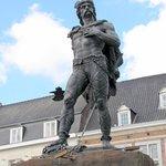 The impressive statue of Ambiorix in the town's main square - # 1