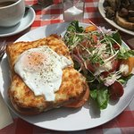croque provencal with egg