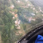View from helicopter trip from Kathmandu to Lukla.