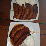 my favorite fried bananas with ice cream