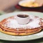 Pancake géant et sirop d'érable