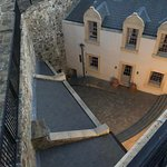 View of the courtyard from the upper parapet