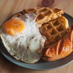 Sausage, Egg & Waffle