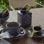 Geschirr im Teehaus