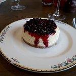 New York baked cheesecake.