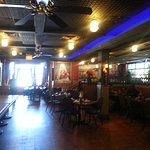 one of the dining areas inside of Lalo's