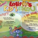 Lalo's kid's menu