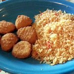 chicken nuggets with rice
