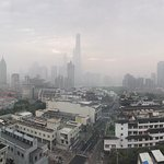 Foggy SHANGHAI morning from Exceutive Lounge, Renaissance Shanghai Yu Garden Hotel