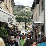 Old Bridge Area of the Old City of Mostar ภาพถ่าย