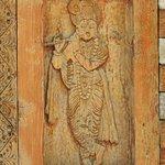 Wooden carving inside Vashisht temple