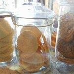 selection of yummy cookies