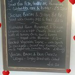 An example of our Specials Board