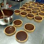 Homemade Chocolate, Caramel and Peanut Tarts - did anyone say Marathon