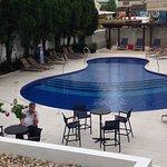 Espaço externo do hotel Sandri