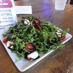 Lunch salad with citrus dressing
