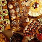 Spread of delicious desserts