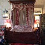 The Red Bedroom inside the mansion