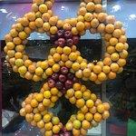 Orange decorations inside Juice World just for fun!