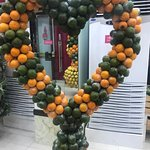 More fruit decorations! Heart shaped!