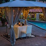 Private romantic gazebo dining