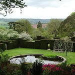 Taken May 2018- views of gardens and a bedroom interior at Knightshayes