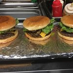 home made 1/2 lb fresh ground all beef cheese burger at the crossvine