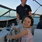 Daughter got to captain the boat!