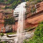 Danxia waterfall (Buddha Light Rock)