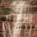 Danxia waterfall area