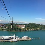 VIEW ON SINGAPORE CABLE CAR AS SEEN IN MAY 2018.