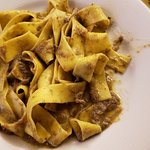 Pasta with boar