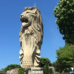 SENTOSA MERLION GIANT STAUTUE AS SEEN IN MAY 2018.