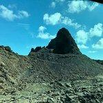 Una de las montañas de lava