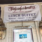 False advertising! They no longer offer the buffet even though this banner is still up.