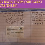 FEED BACK FROM OUR GUEST FROM (DELHI))
