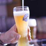 Cerveza artesanal Blue Moon, con un toque de naranja de Valencia