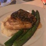 Grouper with asparagus, yummy!