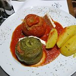 Stuffed pepper/tomatoes