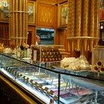 Inside the ice cream shop