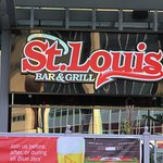 You can't miss St Louis from the sidewalk.