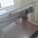 Actual cannon with hole in it from Revolutionary war